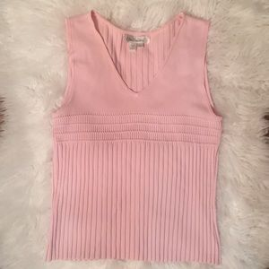 90s Vintage Baby Pink Sleeveless Top